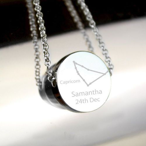 Capricorn Zodiac Star Sign Silver Tone Necklace (December 22nd - 19th January)